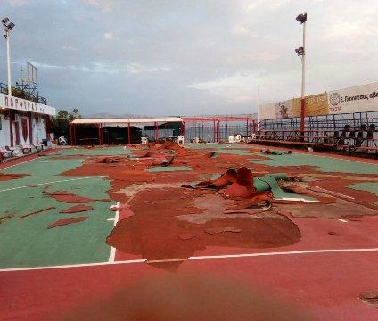 Βλέπετε φωτογραφίες από: Ανακαίνιση του ανοικτού γηπέδου του ΑΟΦ ΠΟΡΦΥΡΑΣ